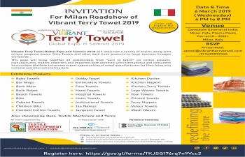 Vibrant Terry Towel GlobalExpo and Summit 2019