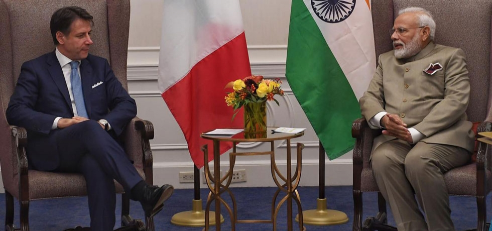 PM Narendra Modi met Italian PM on the sidelines of the UN session