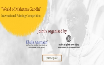 Gandhi@150 celebrations-an online international painting competition for children