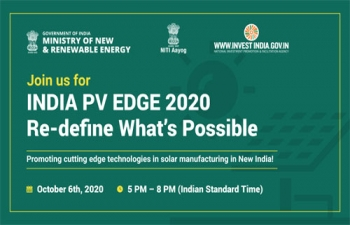 INDIA PV EDGE 2020  October 6th 2020, from 5 pm to 8 pm (IST)