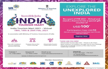 3rd India Tourism Mart from 18th - 20th February, 2021