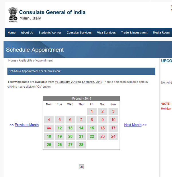 Consulate General of India, Milan, Italy : New Passport (for